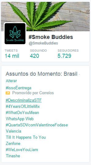 descriminaliza stf trendings topic smoke buddies twitter 01 #DescriminalizaSTF lidera os Trending Topics no Brasil