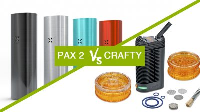 pax 2 vs crafty namaste vapes smoke buddies 400x225 Crafty vs Pax 2: qual vaporizador escolher?