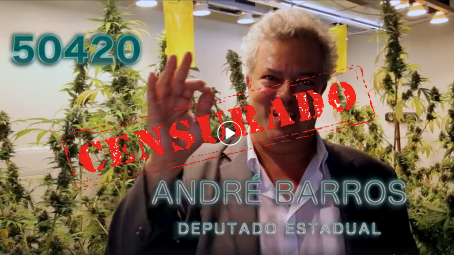 censurado 50420 andre barros video viraliza candidato da maconha FACEBOOK CENSURA VÍDEO DA MACONHA   ANDRÉ BARROS 50420