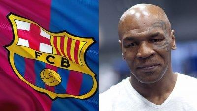 barcelona tyson 400x225 Barcelona nega acordo com empresa de cannabis parceira de Mike Tyson