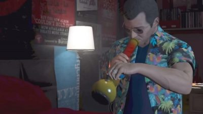 gtav bong 400x225 De GTA a Hotline Miami: como os games discutem as drogas?